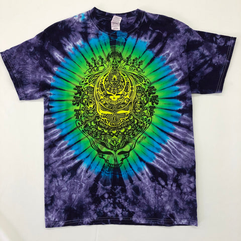 Tie Dye T-Shirt w/ Artwork: Grateful Dead Skull