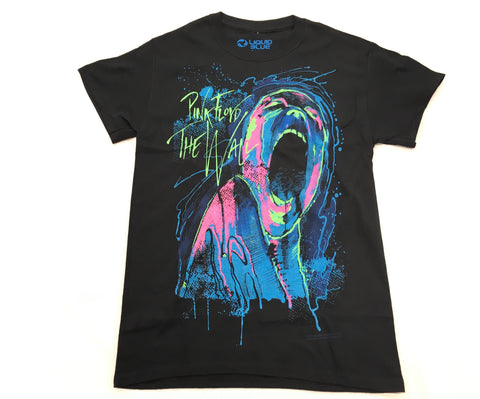 Pink Floyd -The Wall Blacklight Liquid Blue Shirt