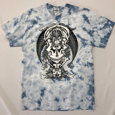 Tie Dye T-Shirt w/ Artwork: Joker Skull