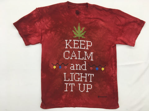 Festive- Lit Cannabis Novelty Mountain Shirt