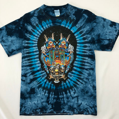 Tie Dye T-Shirt w/ Artwork: Drums N Space