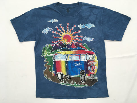 VW Bus- Batik Tour Mountain T-Shirt