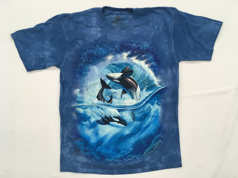 Whales- Orca Wave Mountain T-Shirt