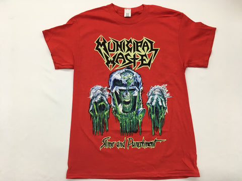 Municipal Waste - Slime and Punishment Red Shirt