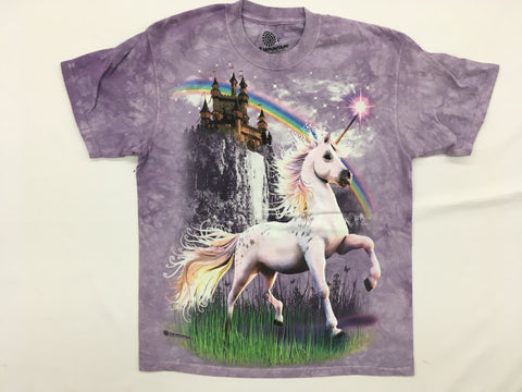 Unicorn- Unicorn Castle Mountain T-Shirt