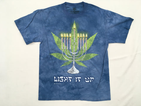 Festive- Lit Hanukkah Novelty Mountain Shirt
