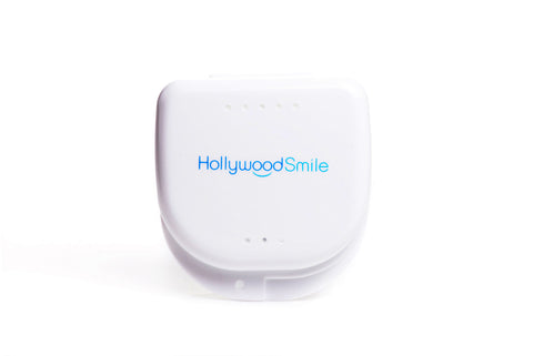 Image of durable plastic retainer case from Hollywood Smile.