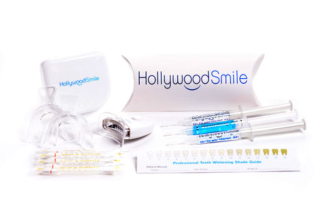 Image of the deluxe Hollywood Smile at-home, DIY teeth-whitening kit.