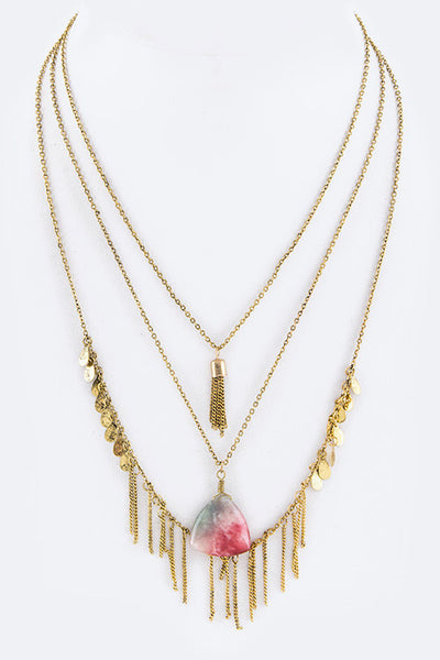 Gold Tassle Necklace