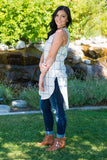 Fall Plaid Tunic-Cream