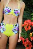 Yellow Floral High Waisted Bottom