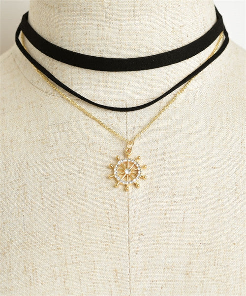 Wheel Choker Necklace