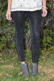 Black Acid Wash Leggings