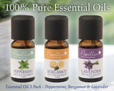 Essential Oil 3 Pack - Peppermint, Bergamont & Lavender