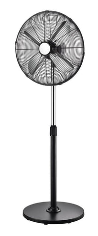 40cm Pedestal Fan  - Black Metal