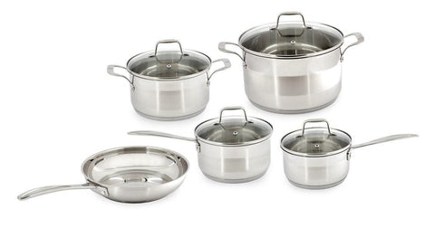 5 Pce Stainless Steel Pot And Pan Set