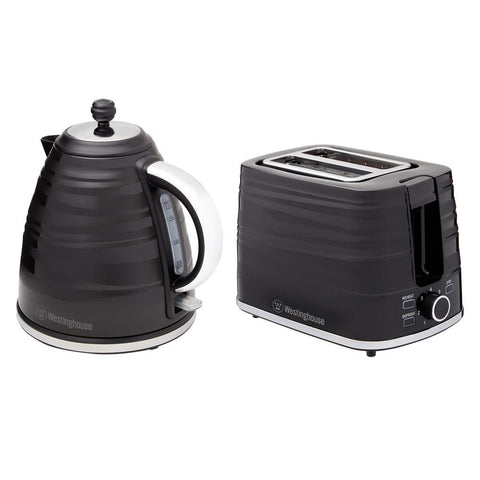 Kettle and Toaster Twin Pack, Black