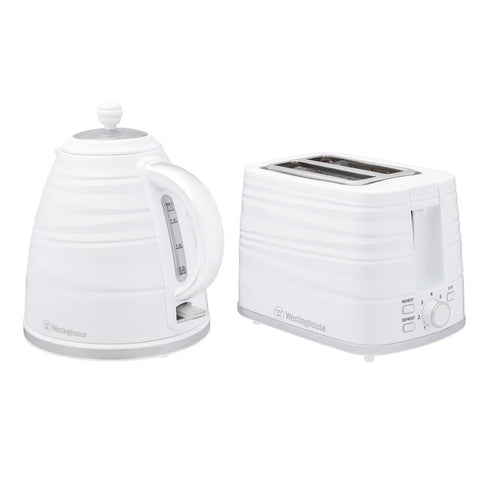 Kettle and Toaster Twin Pack, White