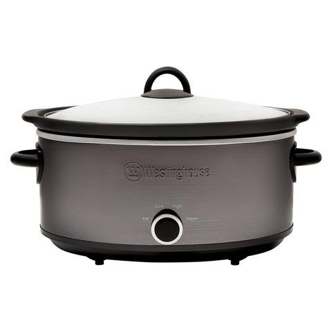 6.5L Slow Cooker, Black Stainless Steel