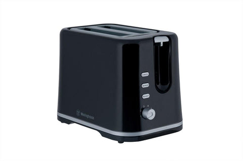 2 Slice Toaster, Black Plastic
