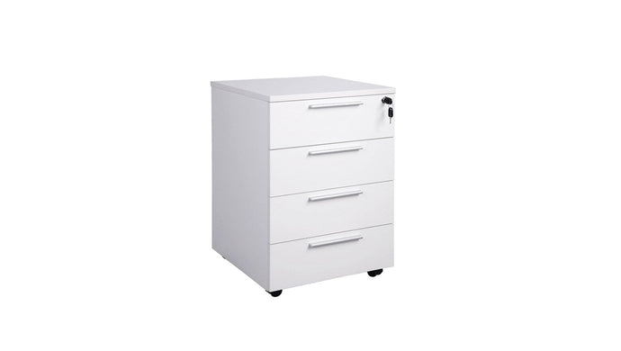 Filing and Storage Cubit Mobile 4 Drawer Unit