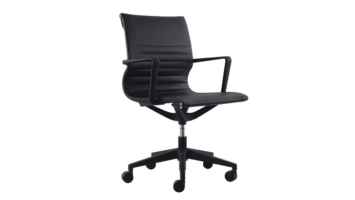 Seating Mid Back / Black PU Diablo Chair