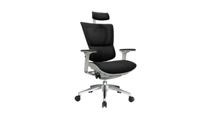 Seating White Frame / Black Mesh / With Headrest iOO Chair