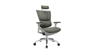 Seating White Frame / Grey Mesh / With Headrest iOO Chair