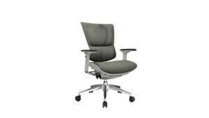 Seating White Frame / Grey Mesh / Without Headrest iOO Chair