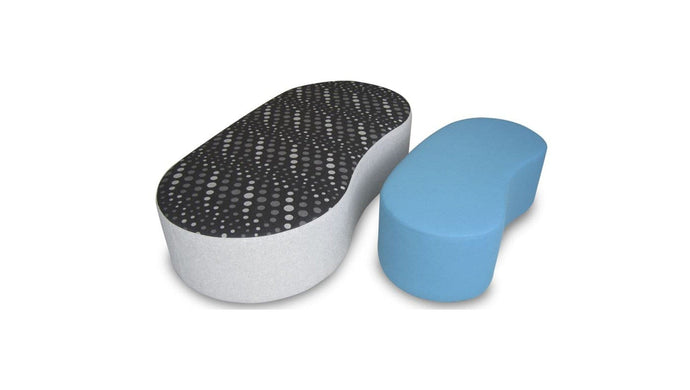 Soft Seating Kidney Ottoman