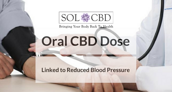 Oral CBD Dose Linked to Reduced Blood Pressure