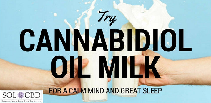 Cannabidiol Oil Milk for a Calm Mind, Sound Sleep