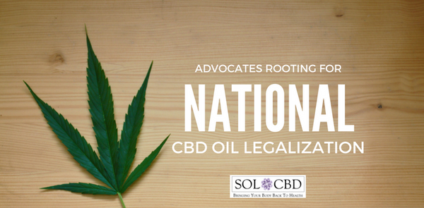 Advocates Rooting for National CBD Oil Legalization