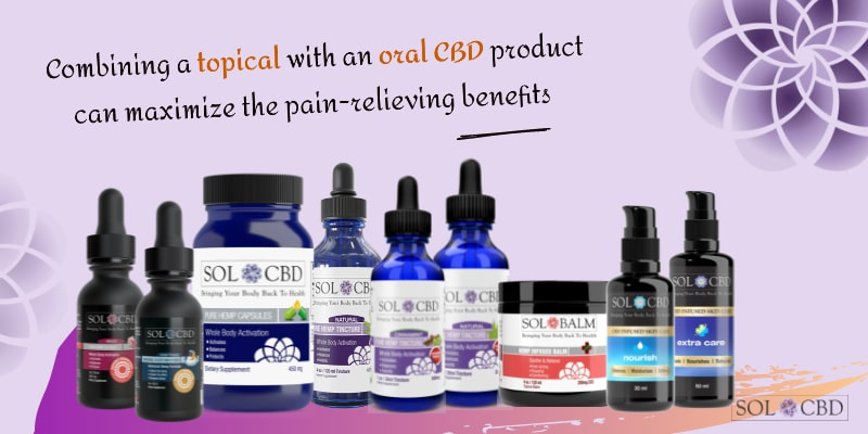 Combining a topical with an oral CBD product can maximize the pain-relieving benefits.