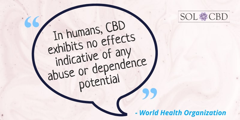 CBD exhibits no effects indicative of any abuse or dependence potential.