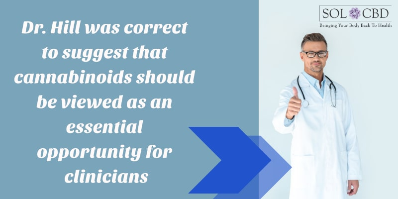 Dr. Hill was correct to suggest that cannabinoids should be viewed as an essential opportunity for clinicians.