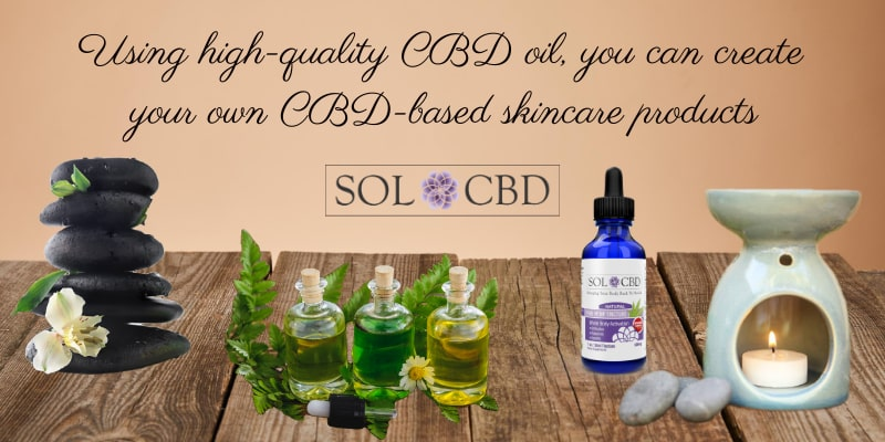 Using high-quality CBD oil, you can create your own CBD-based skincare products.