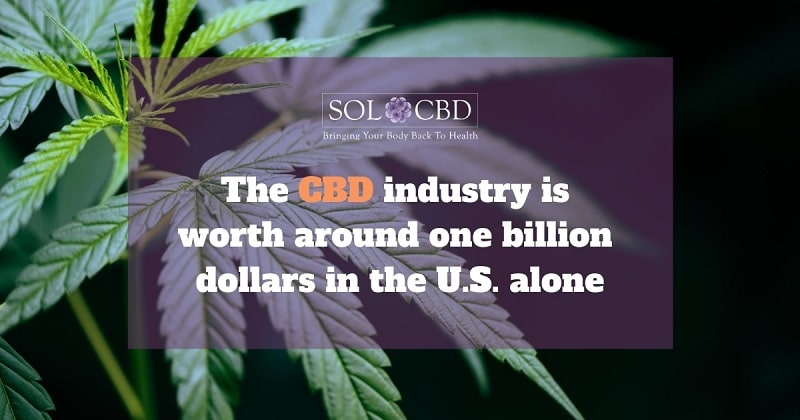 The CBD industry is now worth around one billion dollars per year in the USA alone.