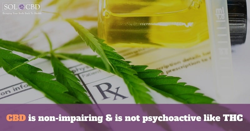 We do know that CBD is non-impairing and is not psychoactive like THC.