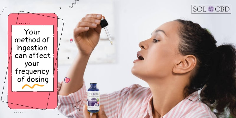 Your method of ingestion can affect your frequency of dosing CBD.