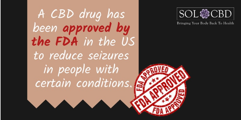A CBD drug has been approved by the FDA in the US to reduce seizures in people with certain conditions.