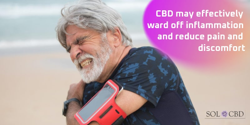 CBD may effectively ward off inflammation and reduce pain and discomfort.