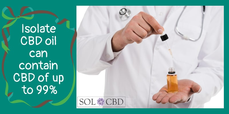 Isolate CBD oil can contain CBD of up to 99%.