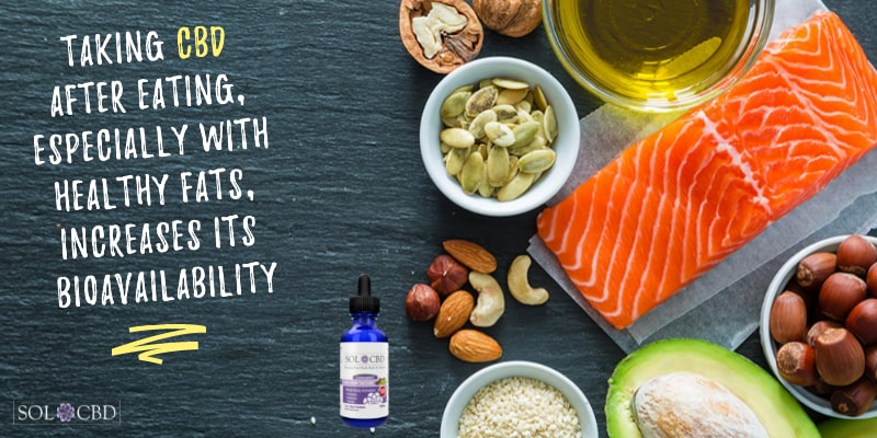 Taking CBD after eating, especially with healthy fats, increases its bioavailability.
