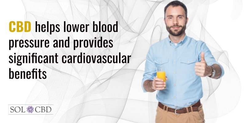 CBD helps lower blood pressure and provides significant cardiovascular benefits.