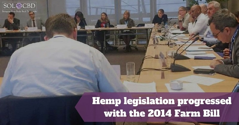 Hemp legislation progressed with the 2014 Farm Bill.