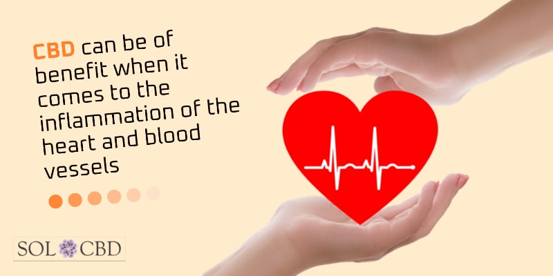 CBD can be of benefit when it comes to the inflammation of the heart and blood vessels.