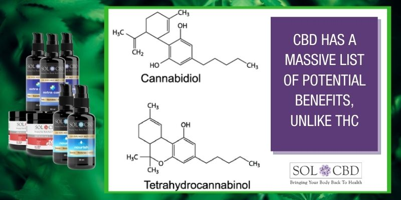 CBD is non-impairing and does not produce THC-like effects.
