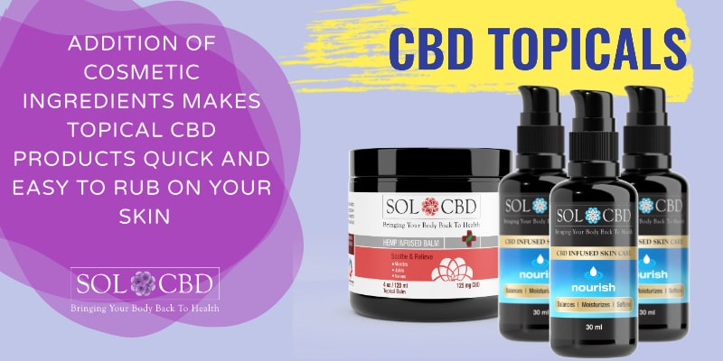 The benefits of using topical CBD products include specific applications of CBD on areas of concern.