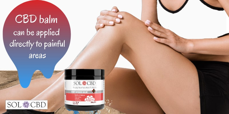 CBD balm can be applied directly to painful areas.